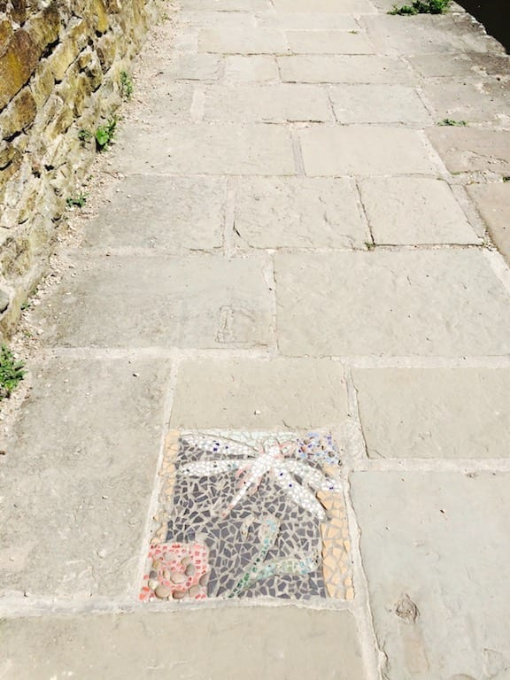 Footpath mosaic | Chesterfield Canal | South Derbyshire | England