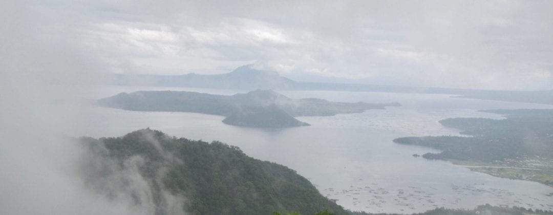 Taal Volcano through fog from Tagaytay | Luzon | Philippines | slow travel