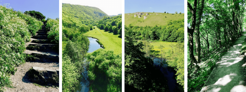 Monsal Head descent to Monsal Dale | River Wye | Headstone Viaduct views | Peak District National Park
