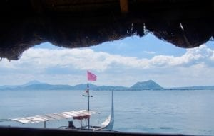 View to Taal volcano island | Taal volcano crater lake | the Philippines