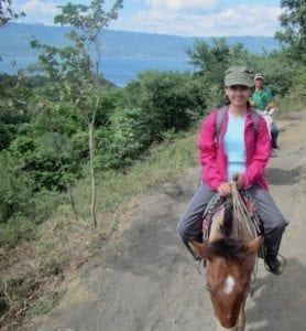 On horseback to Taal crater lake | Taal volcano | the Philippines