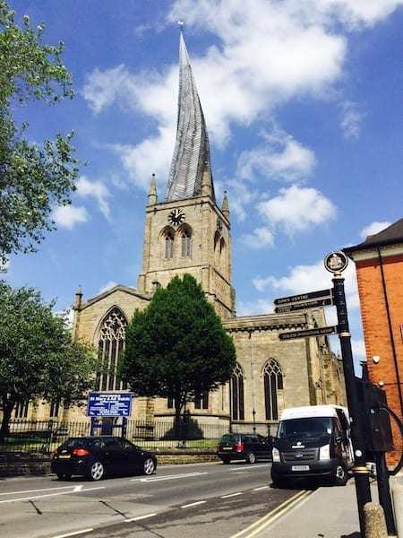 Chesterfield Cathedral crooked spire | Derbyshire, England