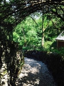 Well dressing | Cressbrook gravel path | Peak District | Derbyshire