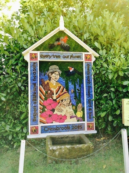 2015 Cressbrook Well Dressing | Cressbrook village green | Peak District National Park | Derbyshire well dressings