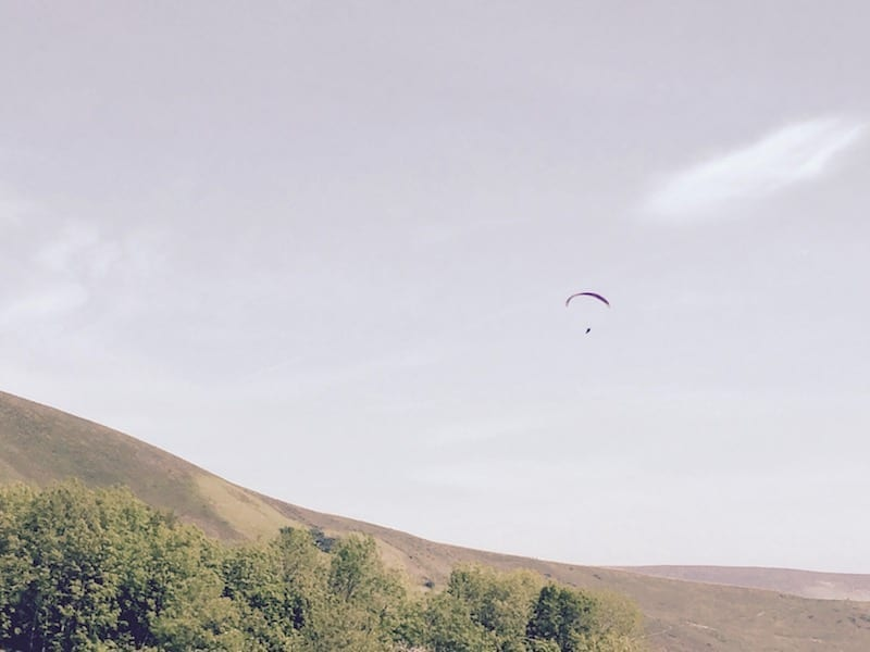 Paraglider over the Peak District National Park | Blue john cavern | Derbyshire