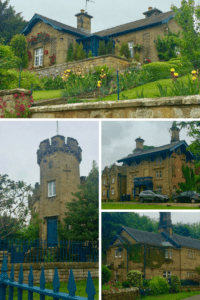 Edensor | blue trimmed houses | Chatsworth | Derbyshire