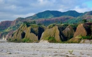 Rock outcrops along the Pinatubo lahar plain | Rock outcrops along the Pinatubo trek | Philippines