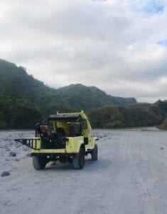 Yellow jeep | Pinatubo lahar plain crossing | the Philippines