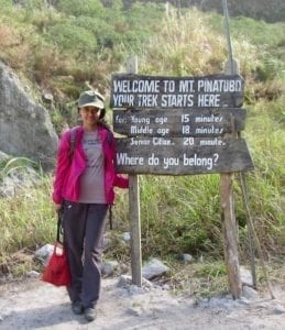 Fitness gauge sign | Start of trekking trail to caldera lake | Trekking to Pinatubo caldera lake | Mount Pinatubo trekking | the Philippines