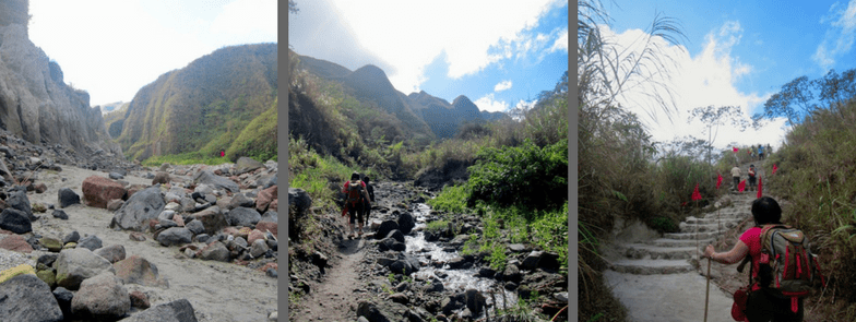 Trekking trail to Pinatubo crater lake | Last stretch to Pinatubo caldera lake | the Philippines