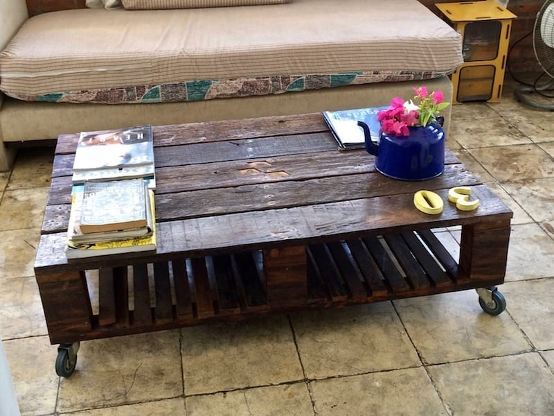 Hipster sustainable chic | Coffee table | Yellow Doors hostel | Tacloban, Leyte | the Philippines | Nepal and India Unusual Packing List | Teja on the Horizon