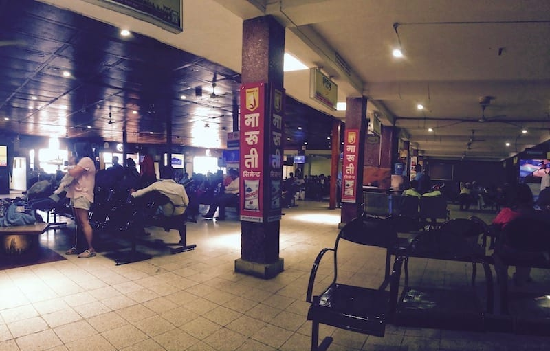 Kathmandu domestic terminal waiting area | Nepal Travel Logistics: What It Costs If You Can't Be Bothered on travel blog Teja on the Horizon | Nepal travel | Nepal logistics cost | Nepal taxi rates | Nepal mobile data service