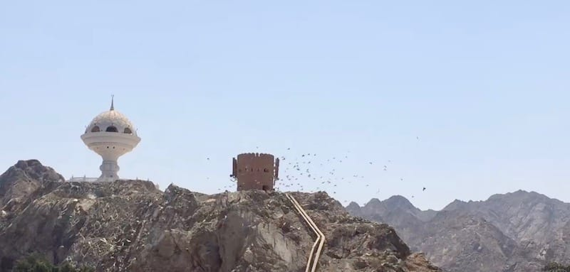 Incense monument in Mutrah | old fort tower Muscat | medieval watchtower | old Muscat | Muscat tour | Oman tourism