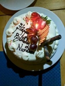 Birthday cake from TME Retreats | Dhigurah | local Maldives island | Maldives guesthouse