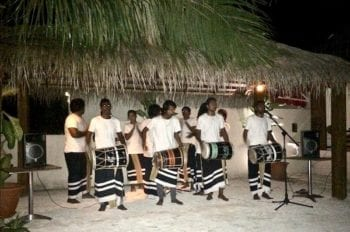 Maldivian dance musicians | bodu beru | boduberu performance | dancing in the Maldives | Teja on the Horizon
