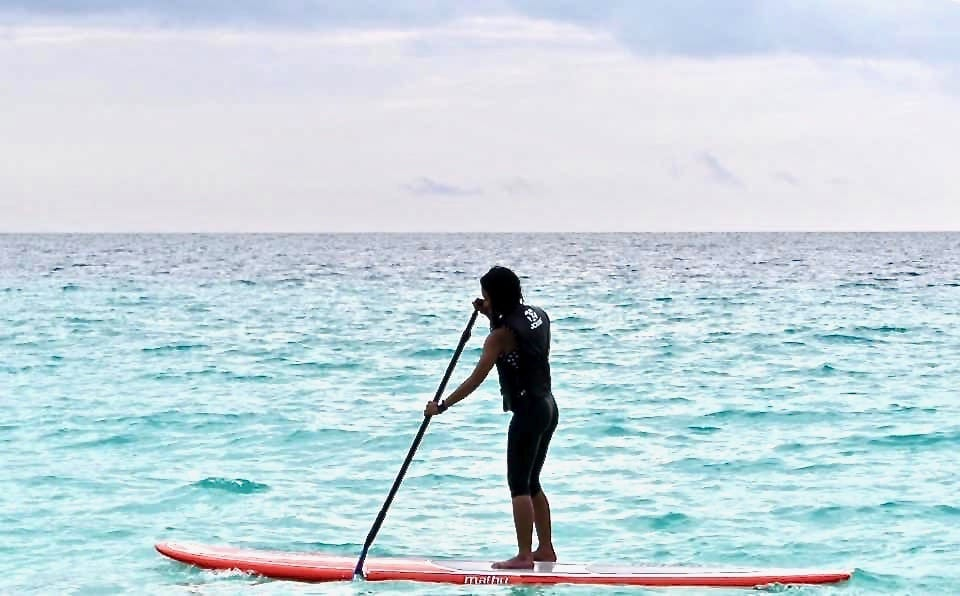 trying something new | paddle boarding | heaven is not what I did yesterday | growth from travel | belief that I could