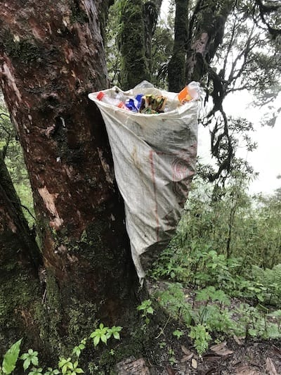 Annapurna rural waste collection | plastic waste in the forest | Annapurna in the Monsoon Day 4: Glimpses of Machapuchare | Nepal trekking | Annapurna Sanctuary trek | Trek to Annapurna base camp | Teja on the Horizon