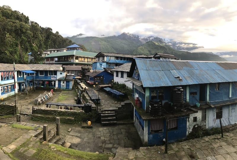 day breaking over Tadapani | Tadapani village | Annapurna in the Monsoon Day 3: The Rock Stacks by the River | Annapurna guesthouses | Tadapani guesthouse | Annapurna accommodations | ABC trekking in monsoon | Annapurna Sanctuary trek in the off season | Teja on the Horizon