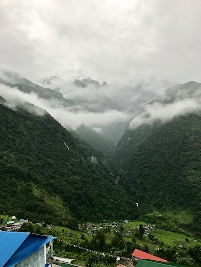 Gurung village of Chomrong | Annapurna in the Monsoon Day 4: Glimpses of Machapuchare peak | Fishtail mountain | Tadapani to Chomrong | Annapurna peaks shrouded by mist | Nepal trekking | Annapurna Sanctuary trek | Asian female trekking | Teja on the Horizon
