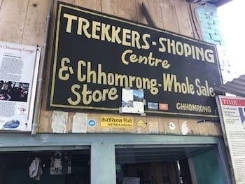 Trekkers' shop in Chhomrong | Annapurna in the Monsoon Day 5: Entering the Sanctuary | Chomrong market village | Annapurna Base Camp trekking | hiking in Nepal | Asian female trekking | Malaysian in Nepal | Teja on the Horizon