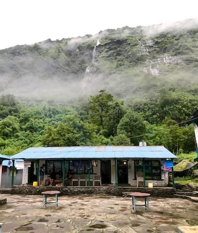 Bamboo guesthouse | Annapurna in the Monsoon Day 5: Entering the Sanctuary | Annapurna Base Camp trekking | hiking in Nepal | Asian female trekking | Malaysian in Nepal | Teja on the Horizon