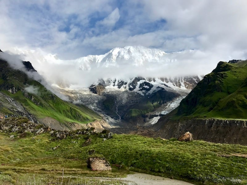 Annapurna in the Monsoon Day 8: Trekking Through the Summer Plateau | Annapurna Sanctuary trek | Annapurna trek | monsoon flowers in Nepal highlands | Annapurna plateau in summer | Trekking food in Annapurna | Asian female trekking | Teja on the Horizon