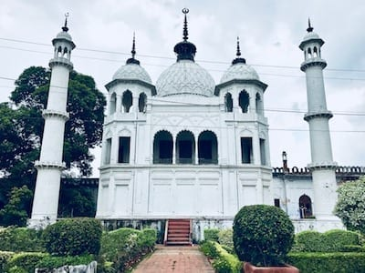 The white treasury building of Chota Imambara in Lucknow, India | Chhota Imambargah | Shiite monument in Uttar Pradesh