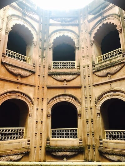 Arches surrounding the well space of the bowli of Bara Imambara in Lucknow, India | Shahi Baoli | Uttar Pradesh heritage attraction