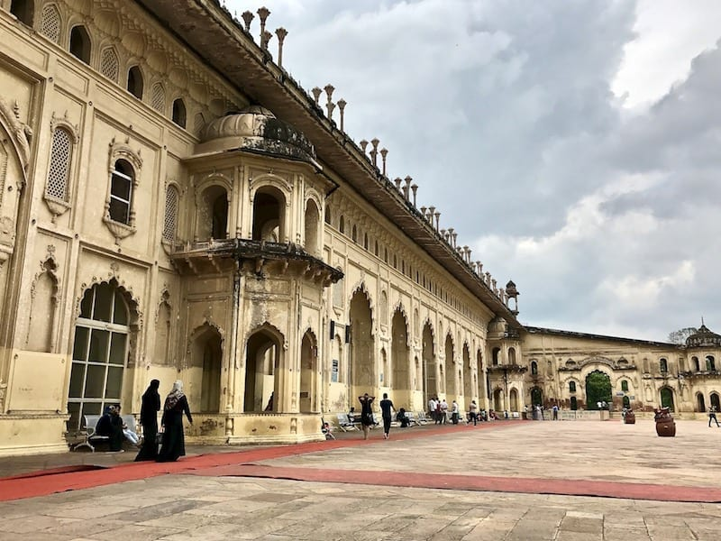 A view along the length of Bara Imambara entrance facade, from the entrance into Bhool-Bhulaiya | Bara Imambargah a must-see monument for a one day in Lucknow itinerary | Uttar Pradesh tourist attraction