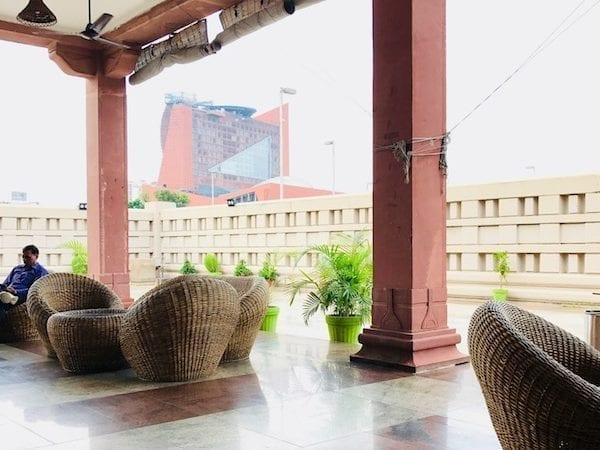 Sheroes' Hangout cafe area in Gomti Nagar, Lucknow, India