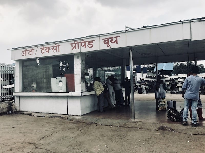 Official taxi booth of Delhi train station
