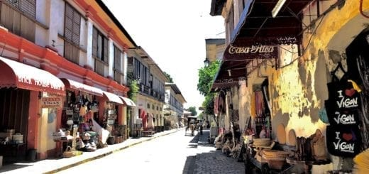 3 Unexpected Things To Do in Vigan You Didn't Know About | View down Calle Crisologo in bright sunlight | Vigan City, Ilocos Sur, the Philippines | Luzon tourism | UNESCO Heritage City | Vigan diving sites | Vigan dive centre | Travel guide article on sustainable travel blog Teja on the Horizon