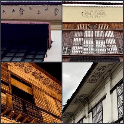Eaves of buildings in Vigan heritage city have soffits with stencil patterns | UNESCO Heritage Site